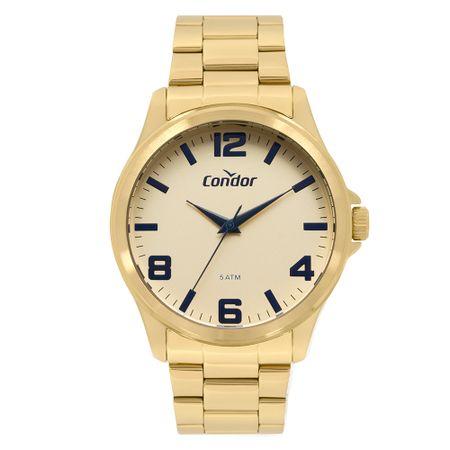Relógio Condor Masculino Metal Dourado CO2035MPI/K4D
