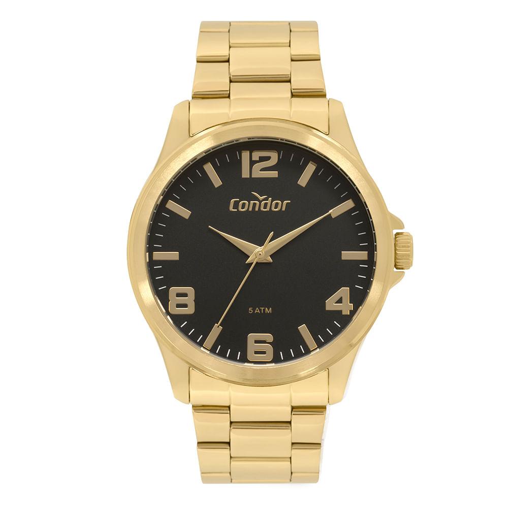 695fb7ca3486b Relógio Condor Masculino Metal Dourado CO2035MPI K4P - timecenter
