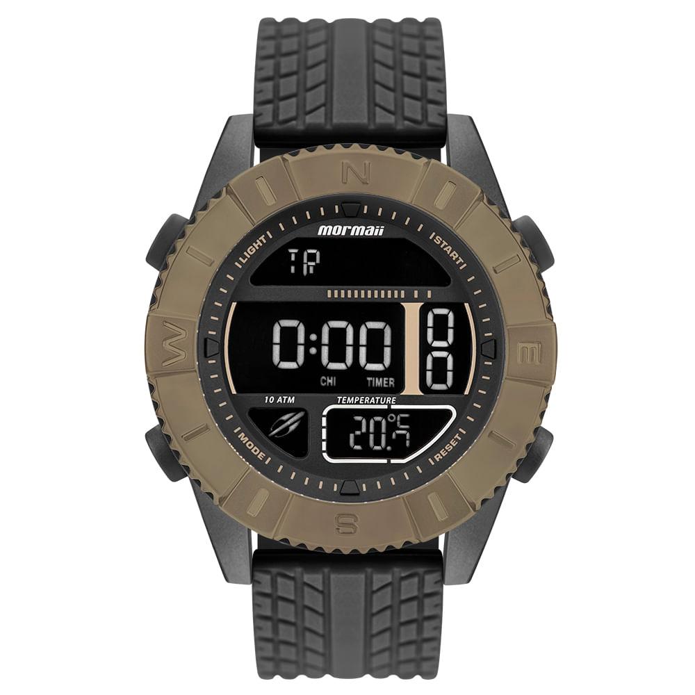 0d163cd5468 Relógio Mormaii Masculino Acquaforce Marrom MO5334AD 8P - timecenter