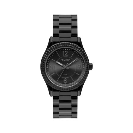 Relógio Euro Feminino Aro Spikes Preto EU2035YQY/4P