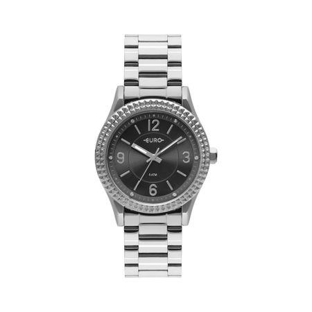 Relógio Euro Feminino Aro Spikes Prata EU2035YRA/3C