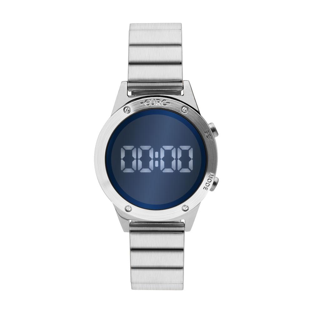 5785a0200e5 Relógio Euro Feminino Fashion Fit Reflexos Prata EUJHS31BAA 3A ...