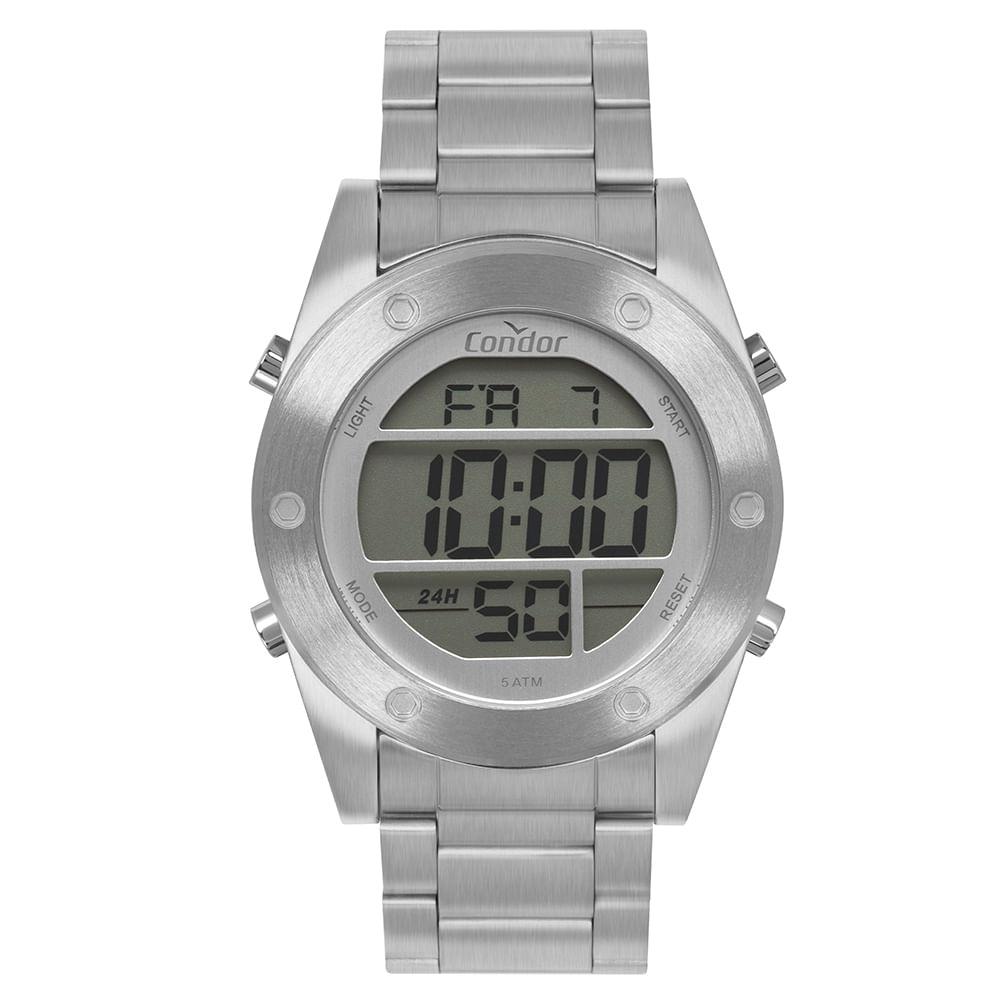 904b4765a9a Relógio Condor Masculino Digital Prata COBJ3463AD 3K - timecenter