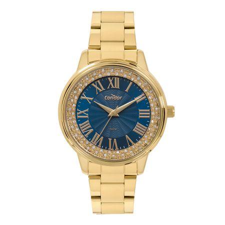 Relógio Condor Feminino Bracelete Dourado CO2036KVF/4A