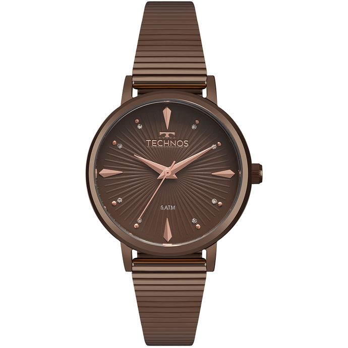 b1bd08516a3 Relógio Technos Feminino Trend Marrom 2036MJY 4M
