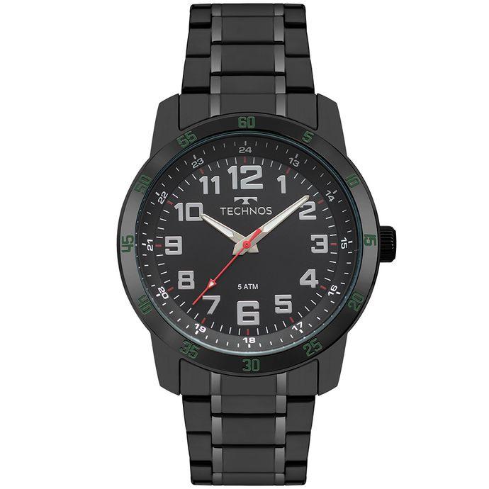 244e3f79973 Relógio Technos Masculino Racer Preto 2035MNZ 4P