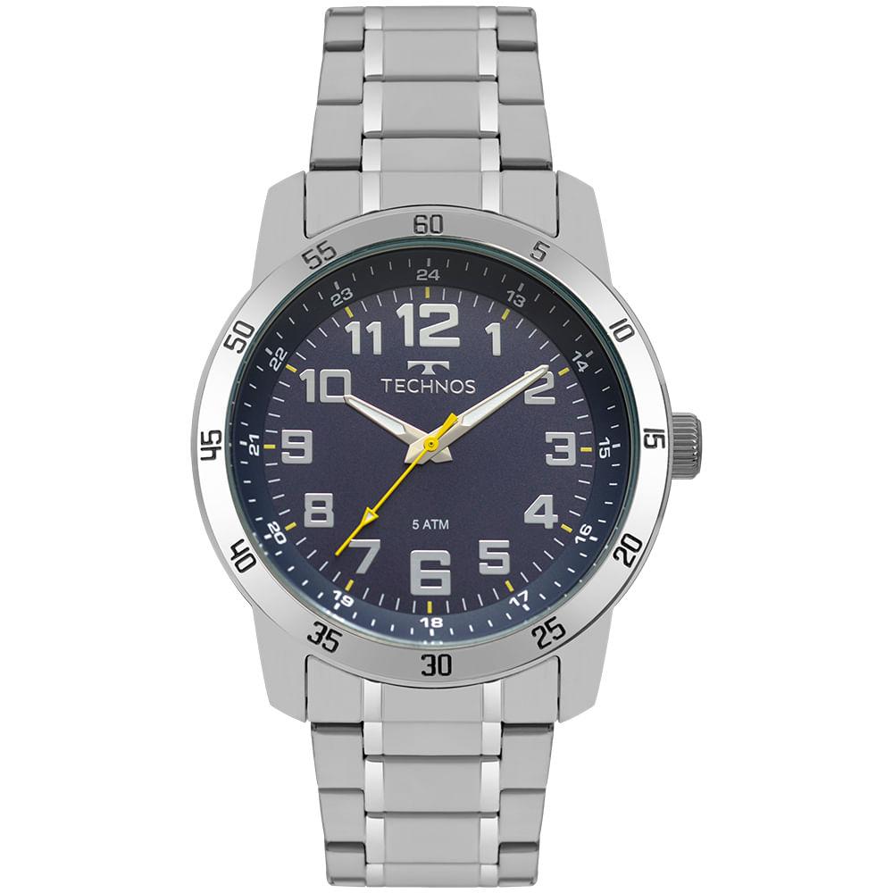 Relógio Technos Masculino Racer Prata 2035MNY 1A - timecenter af1fdaef13
