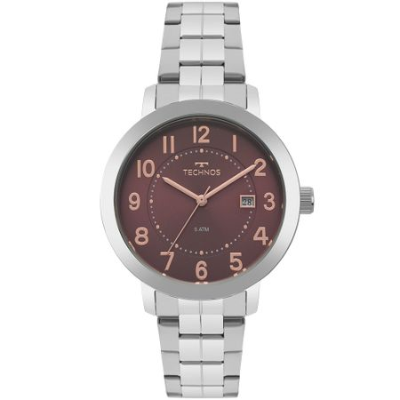 Relógio Technos Feminino Dress Prata 2115MRW/1R