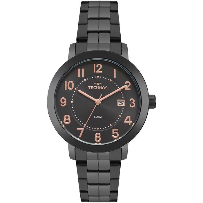 Relógio Technos Feminino Dress Preto 2115MRV 4P - technos d7792553f2
