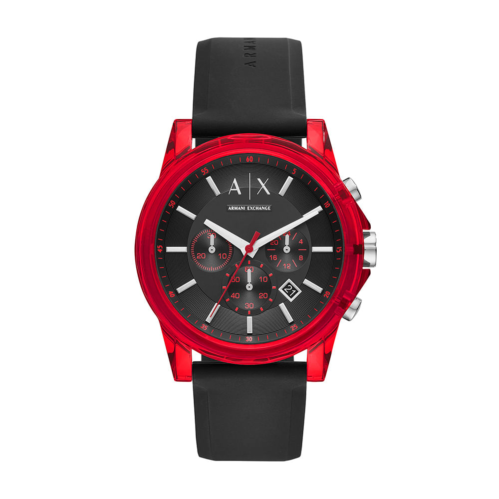 77a5b527ba0 Relógio Armani Exchange Masculino Outerbanks Preto AX1338 8PN ...