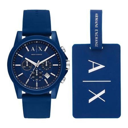 Relógio Armani Exchange Masculino Outerbanks Azul AX7107/8AN