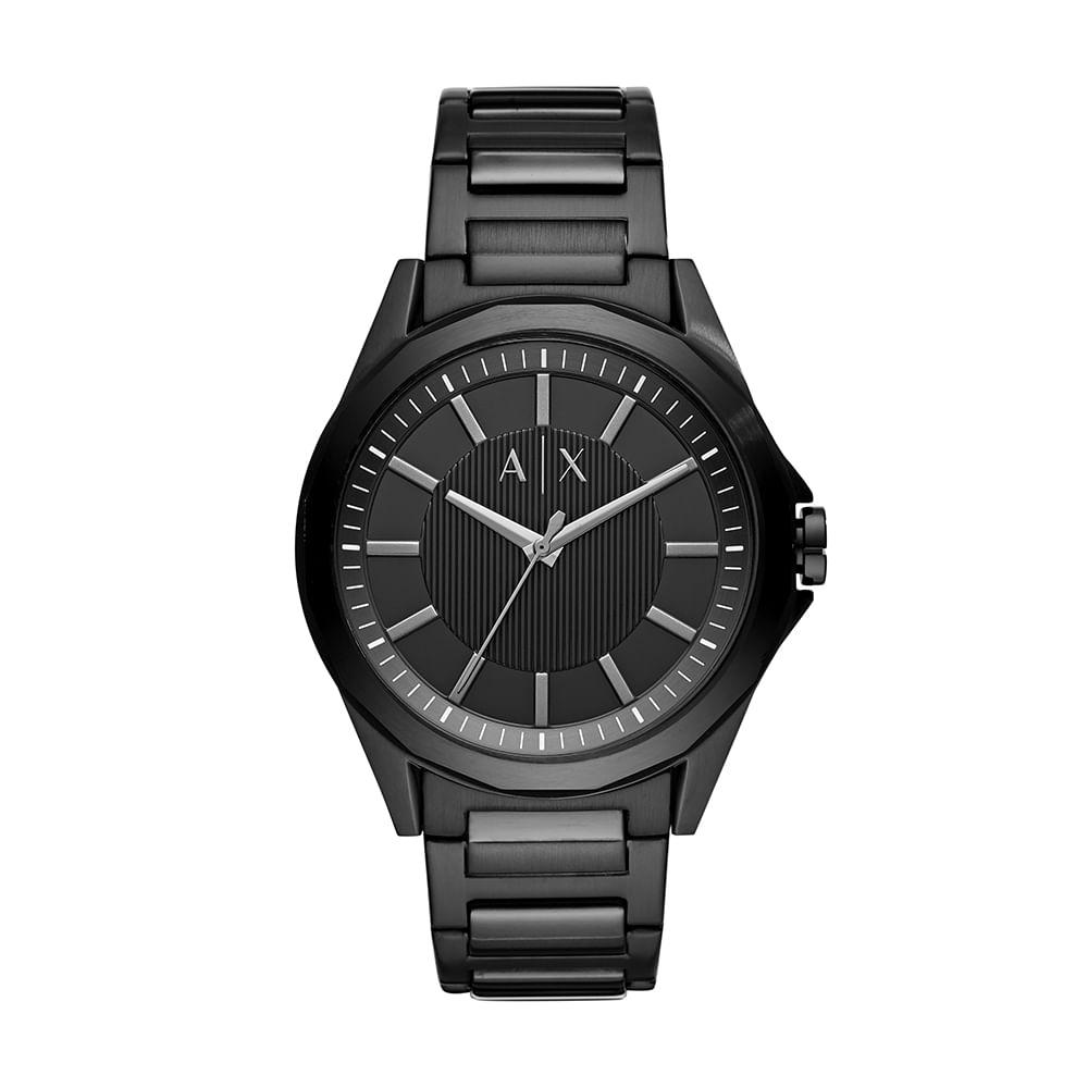 2c15ca069de Relógio Armani Exchange Masculino Drexler Preto AX2620 1PN - timecenter