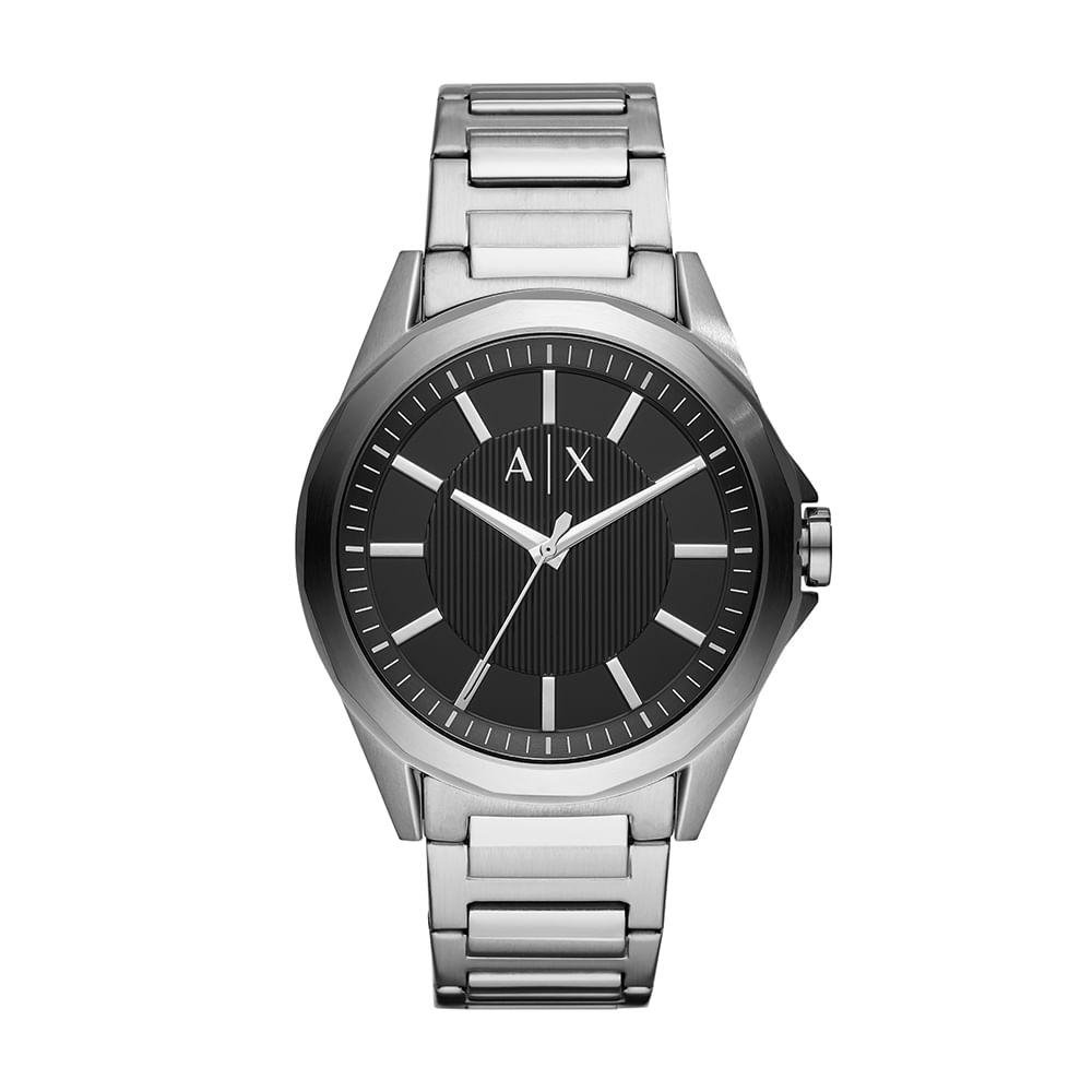 45e5a5b2ad3 Relógio Armani Exchange Masculino Drexler Prata AX2618 1KN - Tempo ...