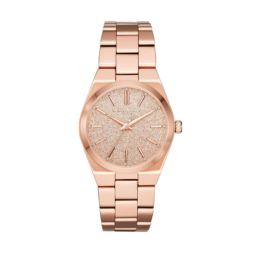 a46fb1e34 Relógio Michael Kors Feminino Channing Rosé MK6624/1JN - timecenter