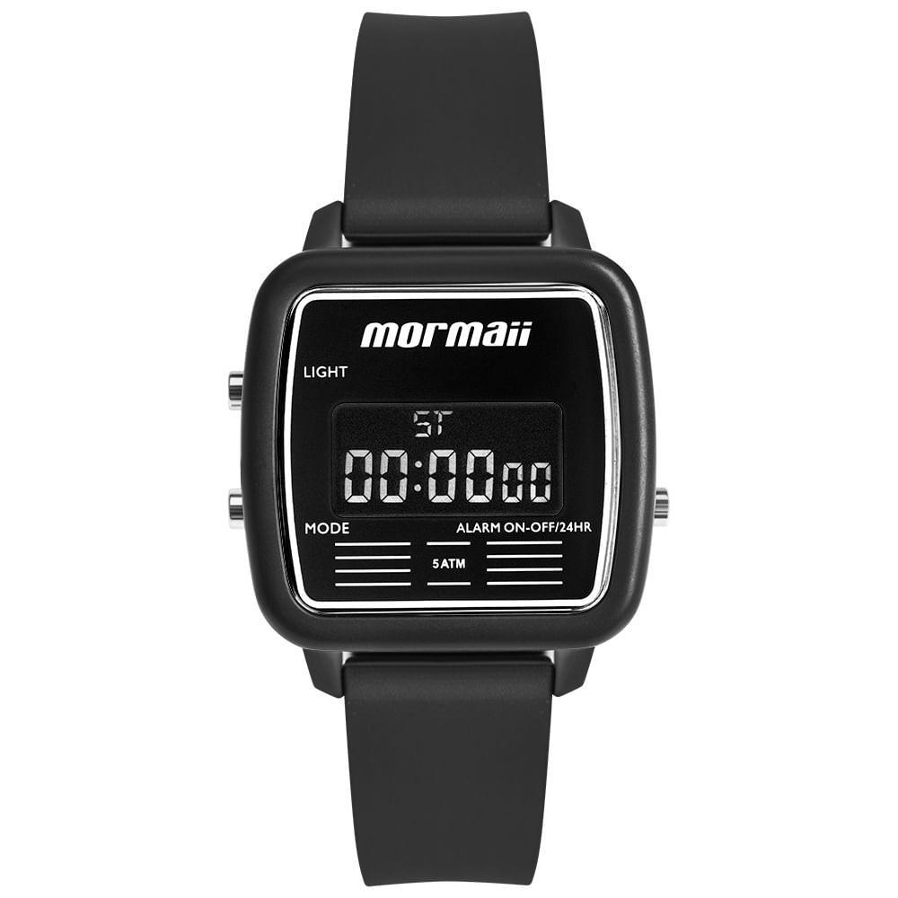 256c15aaa60 Relógio Mormaii Unissex Vintage Preto MOJH02AV 8P - timecenter