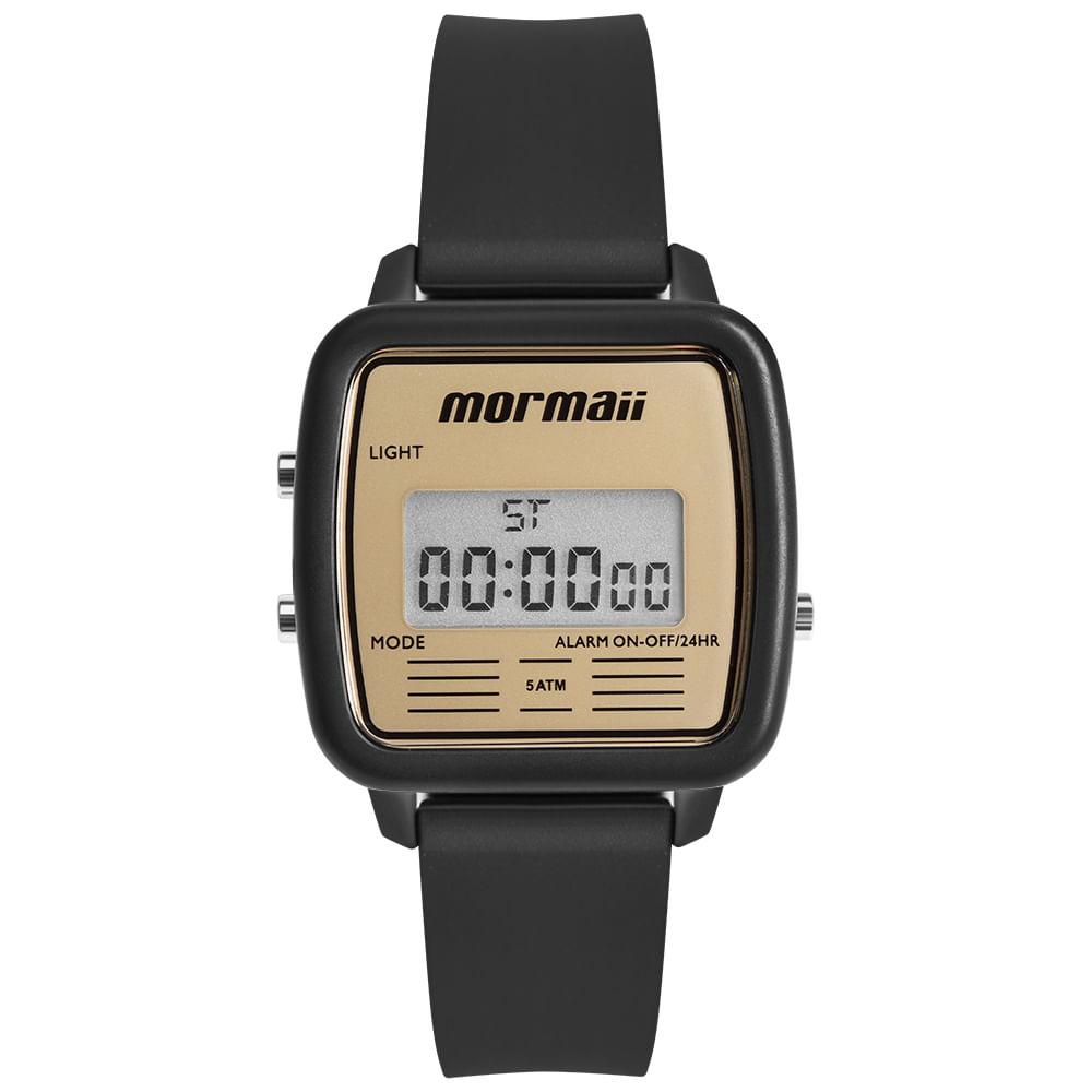 97e4c02336e Relógio Mormaii Unissex Vintage Preto MOJH02AV 8D - timecenter