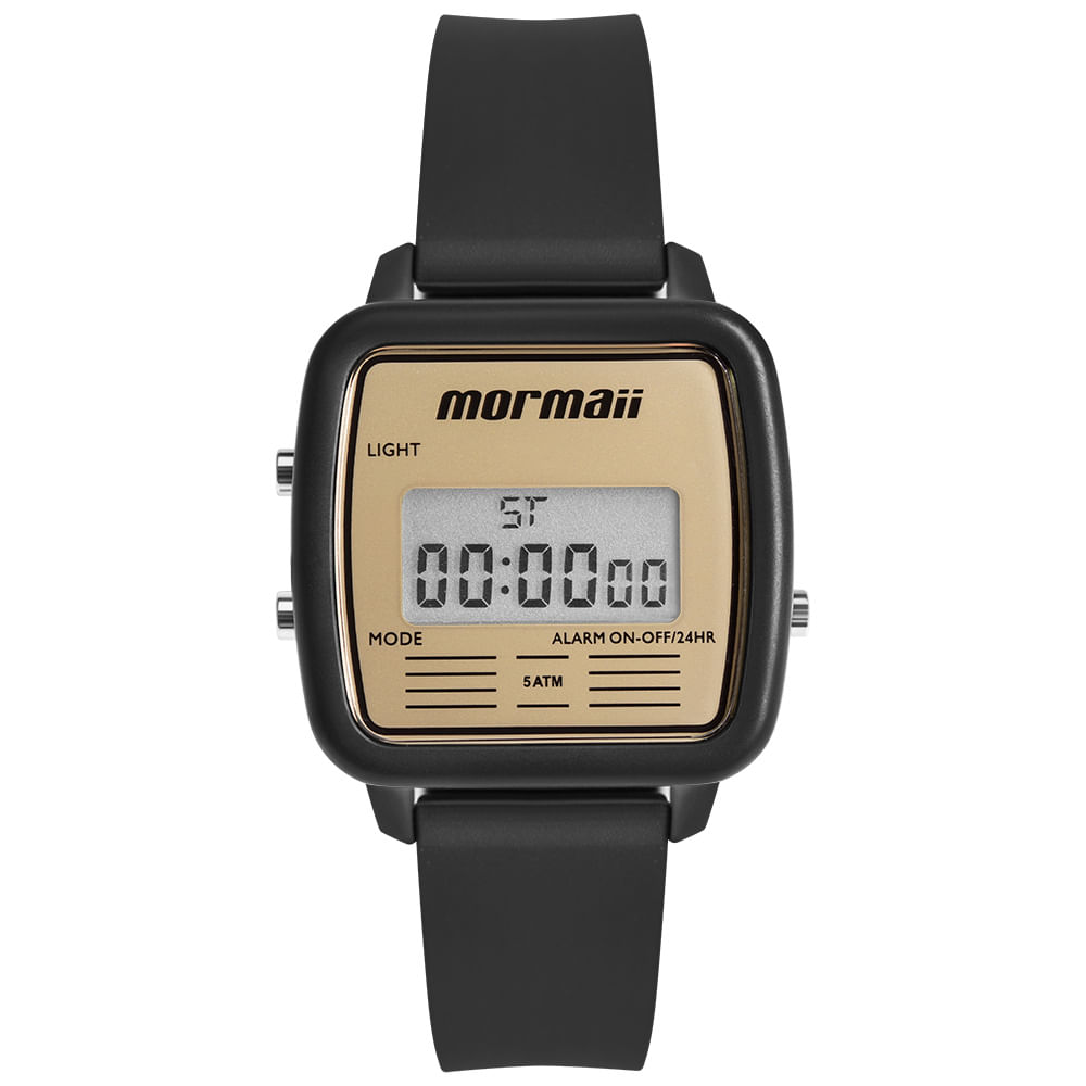 7dc642231ee Relógio Mormaii Unissex Vintage Preto MOJH02AV 8D - timecenter
