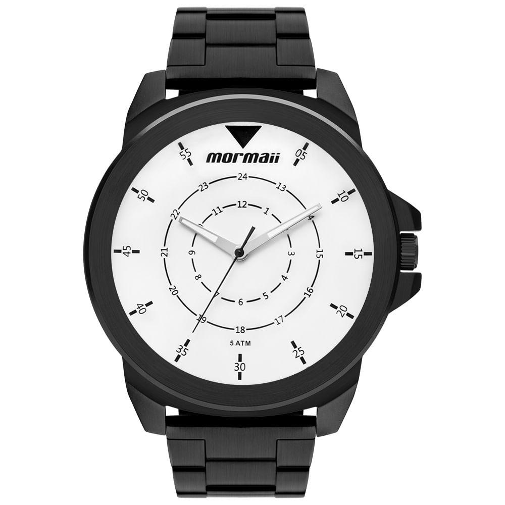 841f79d9293 Relógio Mormaii Masculino Interestelar Preto MO2035JR 4P - timecenter