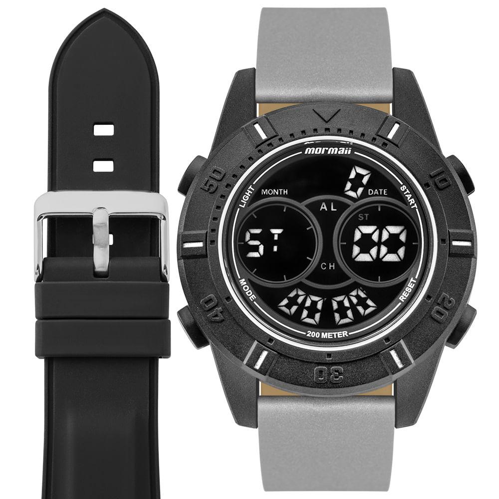835e053d0cf45 Relógio Mormaii Masculino Interestelar Preto MO1608AB T8C - timecenter