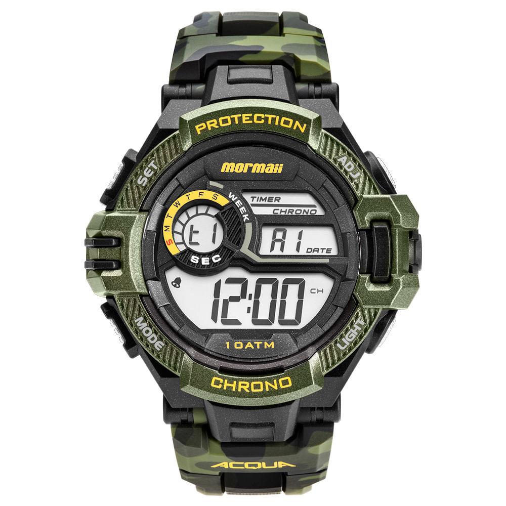 70e5ad5f69 Relógio Mormaii Masculino Acquaforce Preto MO1134 8V - timecenter