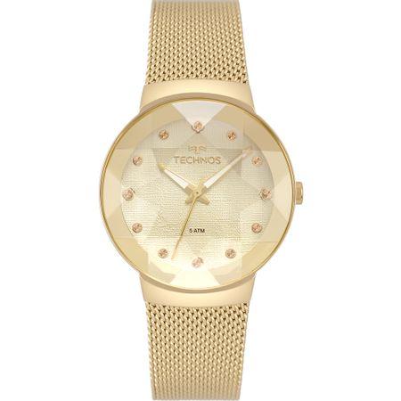 Relógio Technos Feminino Crystal Dourado 2035MPW/4X