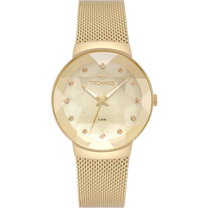 Relógio Technos Feminino Crystal Dourado 2035MPW 4X - technos ae98751177