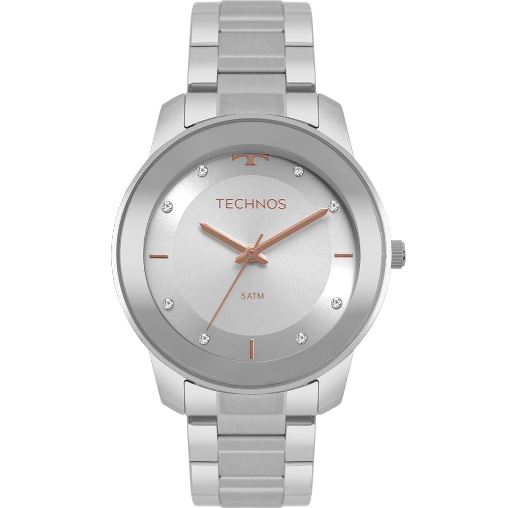 6e73c0ef7b0 Relógio Technos Feminino Trend Prata 2036MKG 1K - timecenter