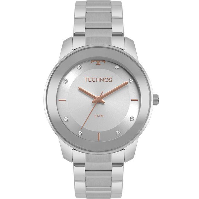 d52a949f754db Relógio Technos Feminino Trend Prata 2036MKG 1K