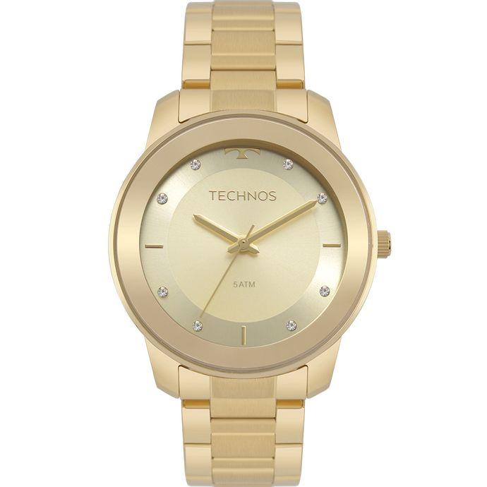 Relógio Technos Feminino Trend Dourado 2036MKD 4X 31e2a71f36