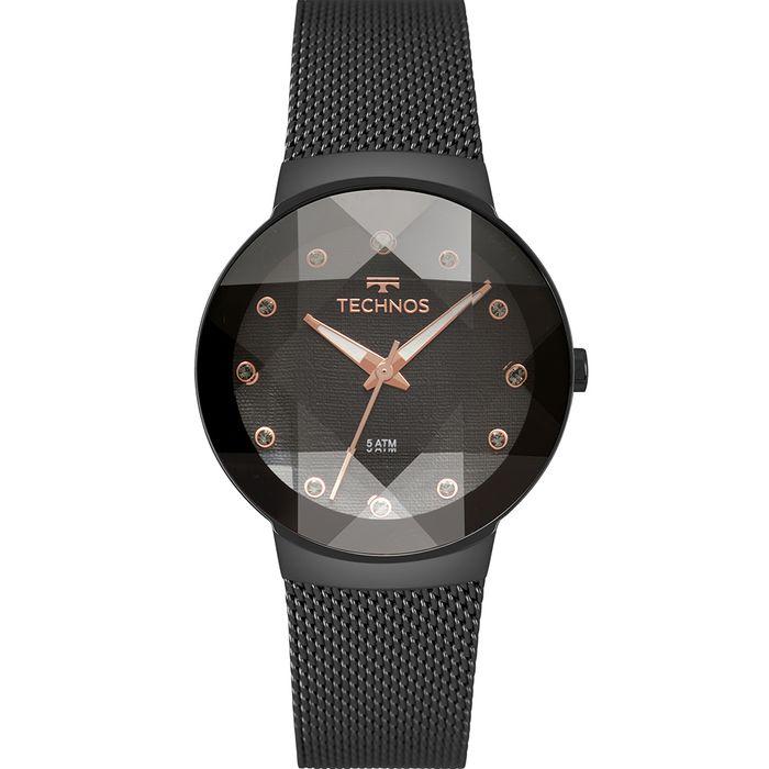 1b1c70ea551 Relógio Technos Feminino Crystal Preto 2035MPY 5P - technos