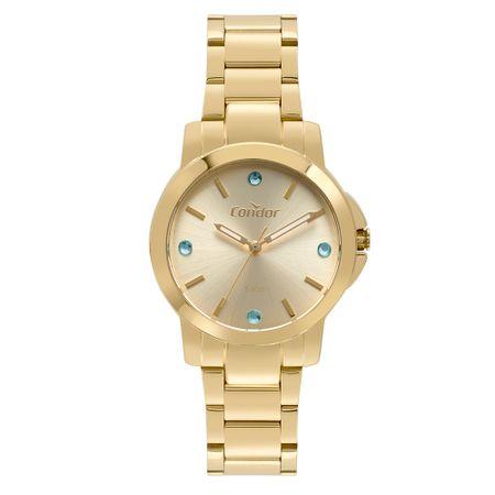 Relógio Condor Feminino Bracelete Dourado CO2035EYF/K4D