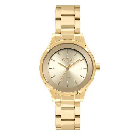 Relógio Condor Feminino Bracelete Dourado CO2035FBZ/K4D