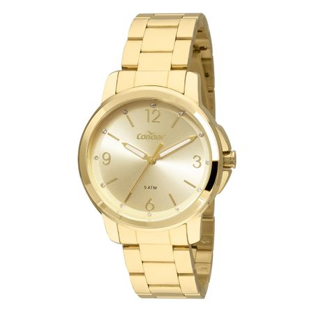 Relógio Condor Feminino Bracelete Dourado CO2035FDW/K4X