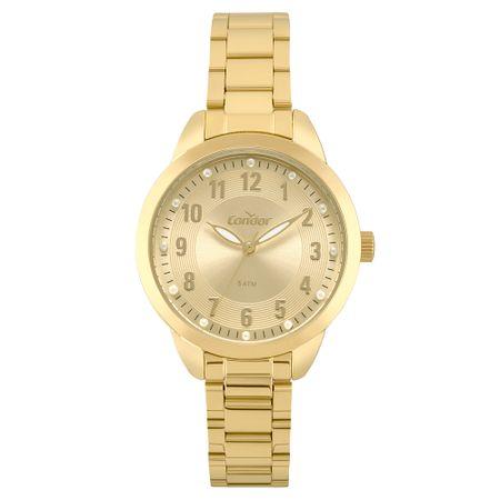 Relógio Condor Feminino Bracelete Dourado CO2035FKU/K4X