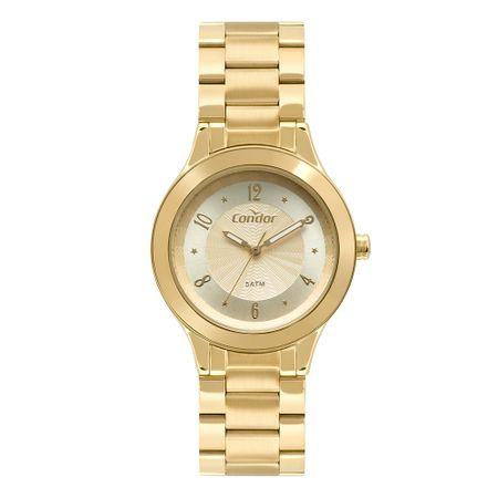 Relógio Condor Feminino Bracelete Dourado CO2035HY/K4D