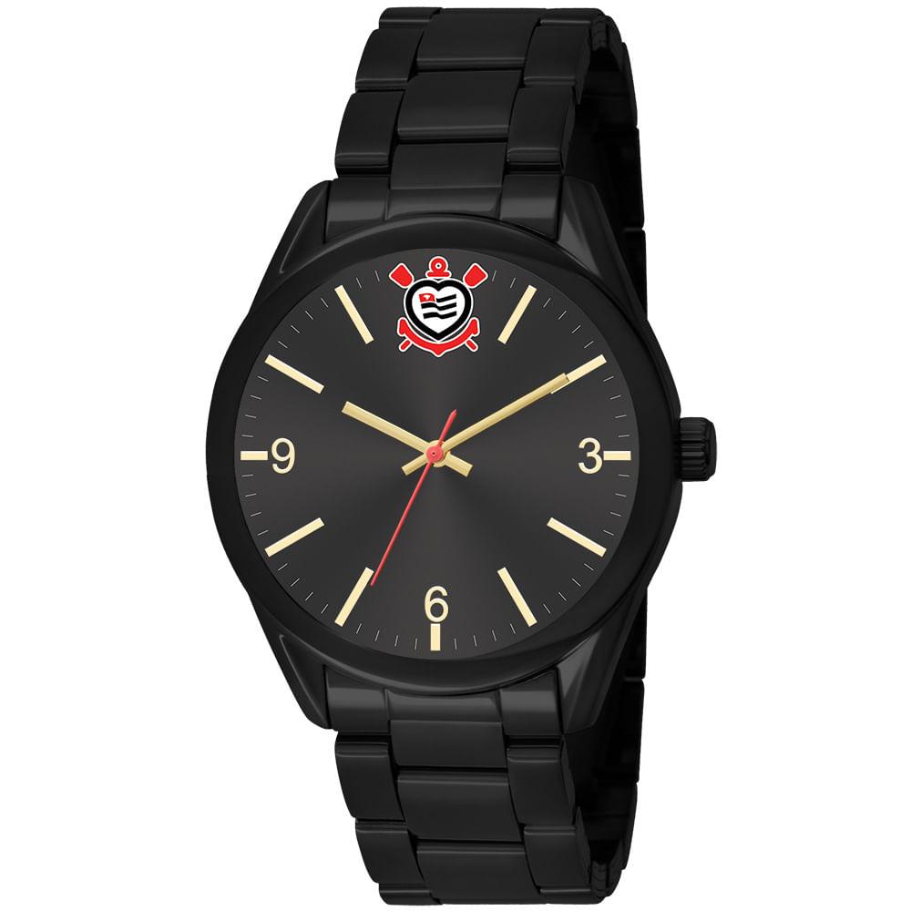 6b6e380d5681d Relógio Clubes Technos Feminino Corinthians Preto CORVFC2035AA 4P ...