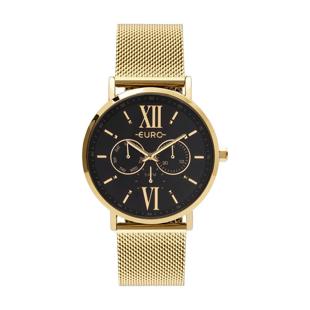 e3c88c0062458 Relógio Euro Multi Glow Feminino Dourado EU6P29AHC 4P - timecenter