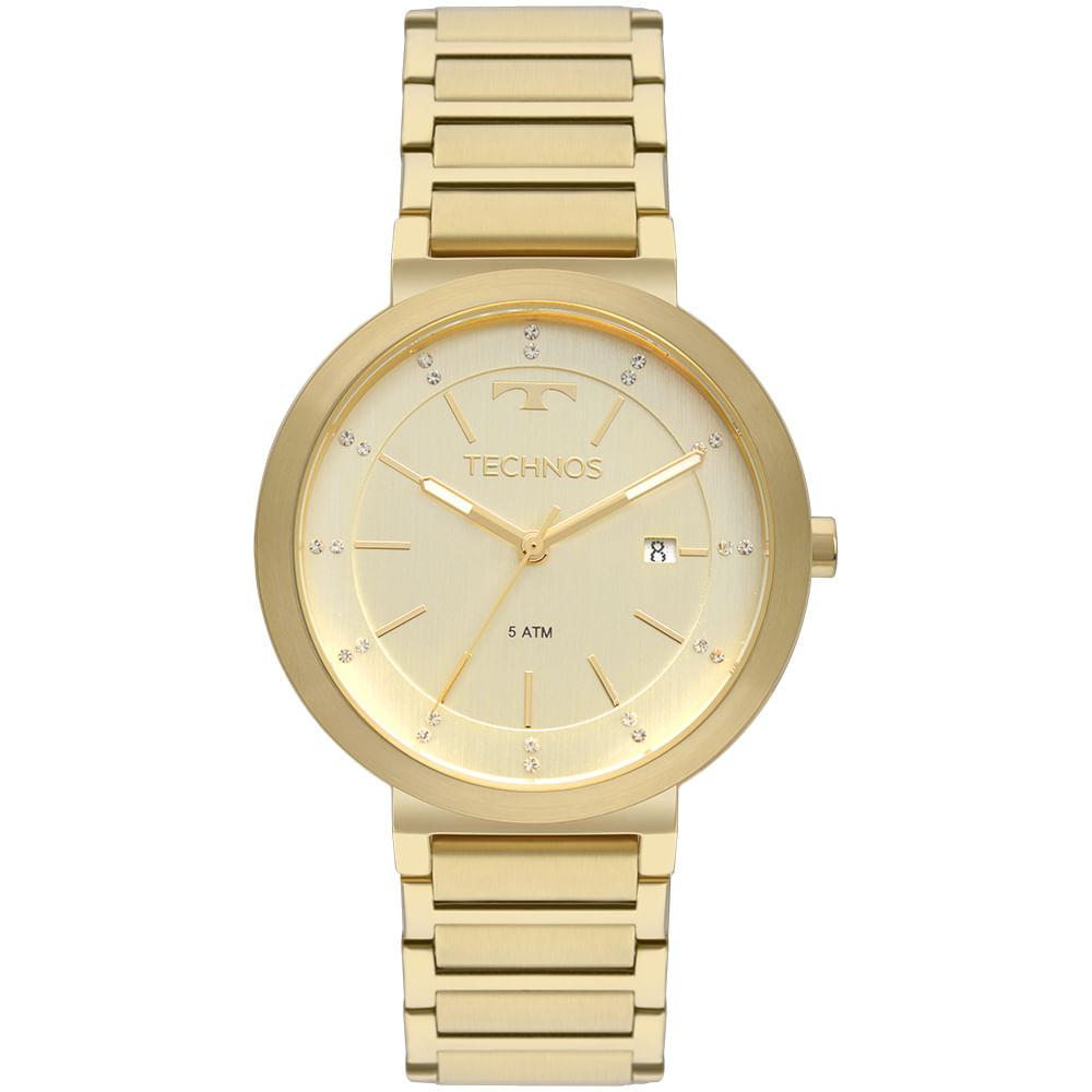 Relógio Technos Trend Feminino Dourado 2115KTJ 4X - timecenter f121d19d8a
