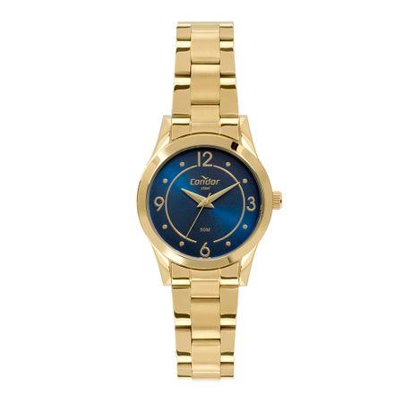 Relógio Condor Aço Feminino Dourado CO2035MPZ/4A