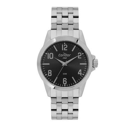 Relógio Condor Aço Masculino Prata CO2035MQB/4P