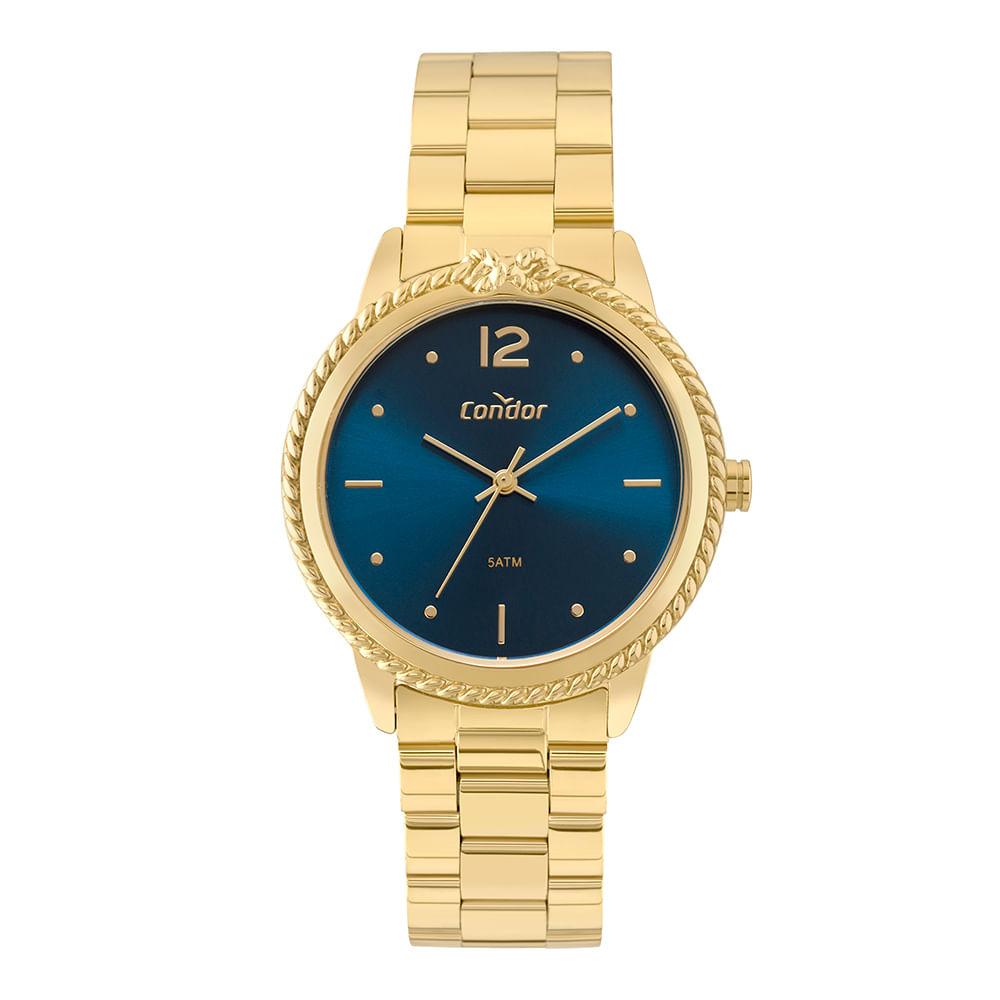 18d9f16a30d Relógio Condor Bracelete Feminino Dourado COAL2035FDQ K4A - timecenter
