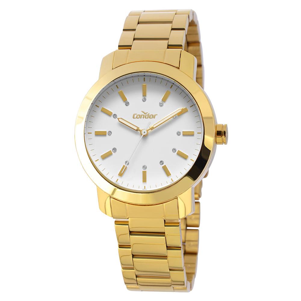 f1e4d689a4b Relógio Condor Bracelete Feminino Dourado COAL2035LH K4B - timecenter