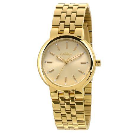 Relógio Condor Bracelete Feminino Dourado COAL2035LV/K4D