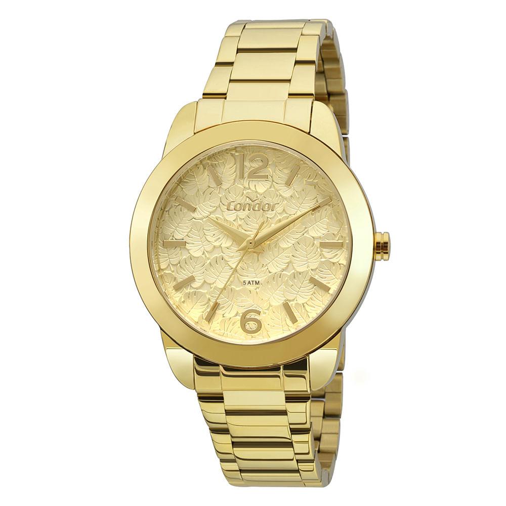 4386c33a95b Relógio Condor Bracelete Feminino Dourado COAL2036FGS K4D - timecenter