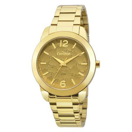 Relógio Condor Bracelete Feminino Dourado COAL2036FGT/K4M