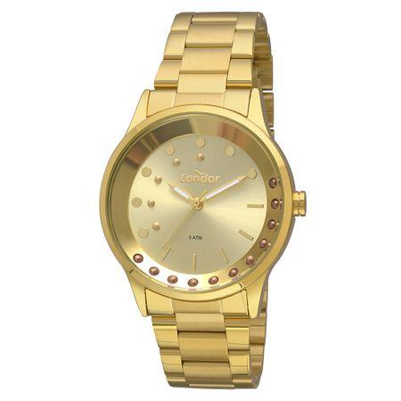 Relógio Condor Bracelete Feminino Dourado COAL2036FIB/K4D