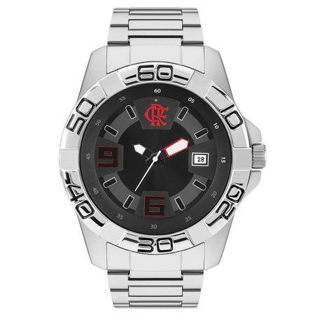 Relógio Clubes Technos Masculino Flamengo Prata FLA2415AA/3P