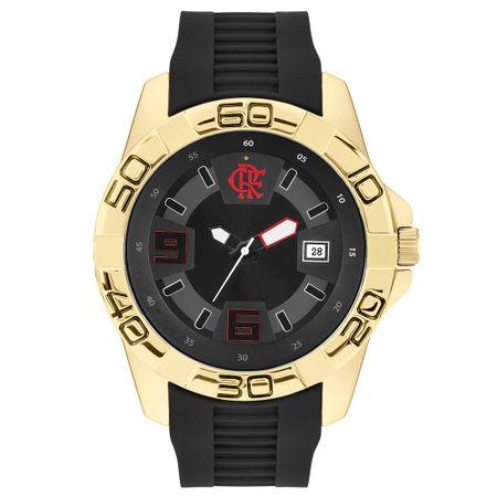 Relógio Clubes Technos Masculino Flamengo Dourado FLA2415AB/4P