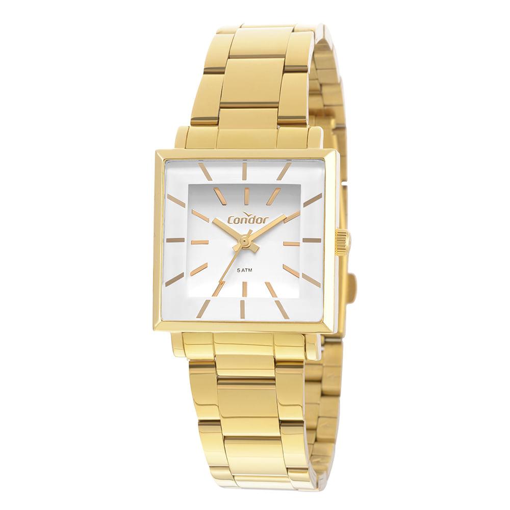 Relógio Condor Feminino Bracelete Dourado CO2035EXM K4B - timecenter e89a88d726