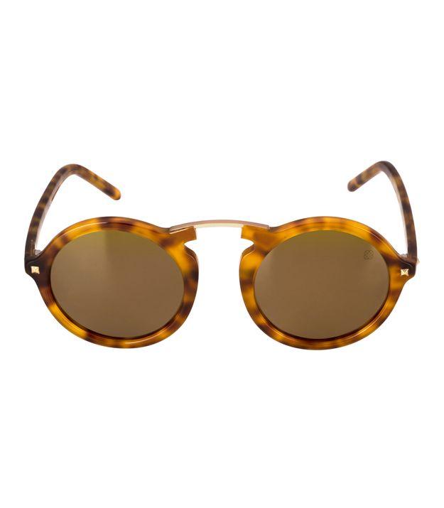 bb17e785fa8d8 Óculos Euro Casual Vintage Feminino Tartaruga E0033F2110 8M